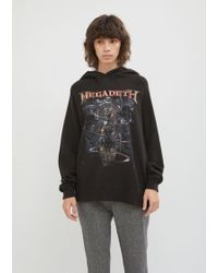 R13 - Distressed Megadeth Machina Hoodie - Lyst