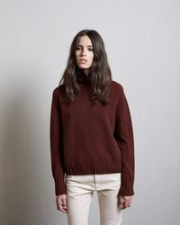 Margaret Howell - Cashmere Wide Roll Neck - Lyst