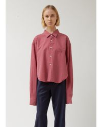 Vetements Red Check Cut-up Shirt