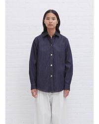 Sofie D'Hoore Beau Cotton Denim Shirt - Blue