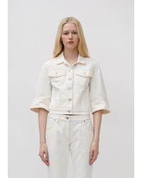 JW Anderson Denim Cropped Jacket - White