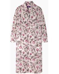 Y's Yohji Yamamoto - Floral Embroidered Robe Coat - Lyst
