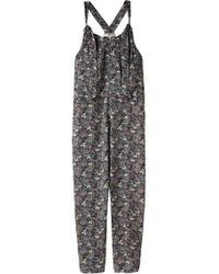 Vanessa Bruno - Printed Silk Jumpsuit - Lyst