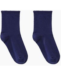 A.P.C. Perforated Socks - Blue