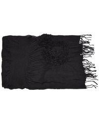 Yohji Yamamoto Flower Scarf - Black