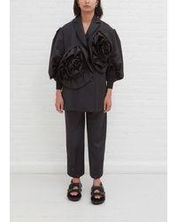Simone Rocha Exaggerated Rose Flower Jacket - Grey