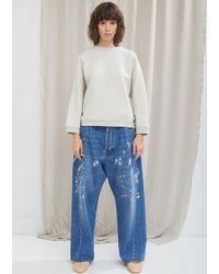 Acne Studios - Splatter Paint Wide Leg Jean - Lyst