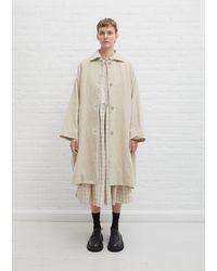 Casey Casey Cotton-linen Velvet Blob Coat - Natural