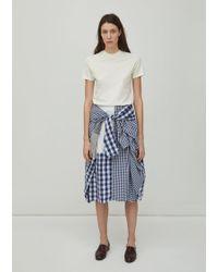 Zucca - Patchwork Gingham Skirt - Lyst