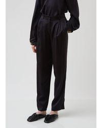 Forte Forte Cloquet Silk Pants - Black
