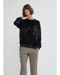 6397 - Crushed Velvet Sweatshirt - Lyst