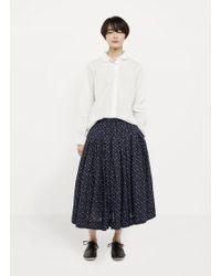 Casey Casey Linen Floral Skirt - Blue