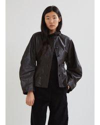 Lemaire - Large Sleeve Leather Jacket - Lyst