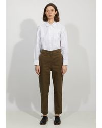 MHL by Margaret Howell Cinched Back Tapered Trouser - Green