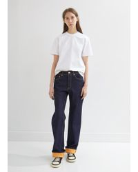Acne Studios - Patch Pocket Indigo Trousers - Lyst