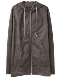 DRKSHDW by Rick Owens - Jacket W/ Leather Sleeves - Lyst