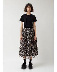 Leur Logette Louise Flower Skirt - Black