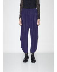 Issey Miyake Drape Jersey Pants - Blue
