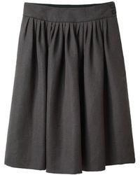 Margaret Howell Full Pleated Skirt - Black