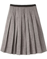 Margaret Howell All Round Pleat Skirt - Grey