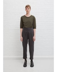 MHL by Margaret Howell Tapered Turn Up Trouser - Grey