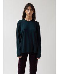 6397 Merino Wool Slouchy Crew - Green