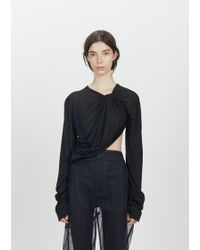 Phoebe English - Twisted Silk Knit Top - Lyst