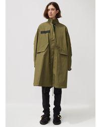 Sacai Cotton Nylon Oxford Coat - Green