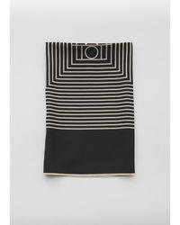 Totême  Venezia Silk Scarf - Black