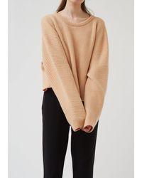 Baserange Wool Rib Kai Jumper - Natural