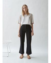 Moderne - Washed Denim Wide Leg Jean - Lyst