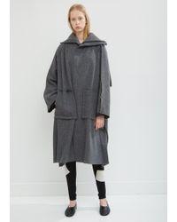 Yohji Yamamoto - Wide Seam Wool Coat - Lyst