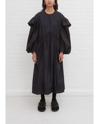 Simone Rocha Signature Sleeve Smock Dress - Black