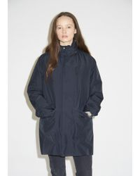 Woolrich - Water Repellant Stand Up Collar Coat - Lyst