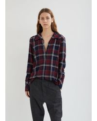 Hope - Maxi Long Sleeve Checked Shirt - Lyst