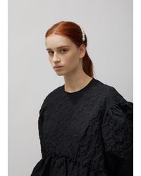 Simone Rocha Flower Hair Clip - Black