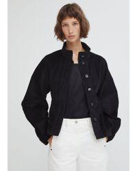 Lemaire - High-collar Cotton-corduroy Jacket - Lyst