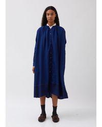 Péro Button Up Coat / Dress - Blue