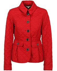 Burberry Down Jackets - Red