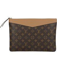 Louis Vuitton Clutch Bags - Brown