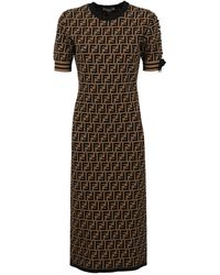 Fendi Longuette Dresses - Black
