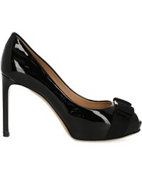 Ferragamo Court Shoes - Black