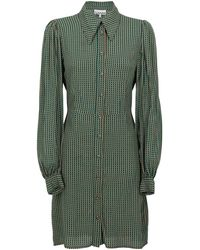 Ganni Midi Dresses - Green
