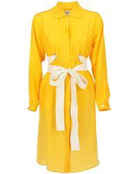 Sportmax Longuette Dresses - Yellow