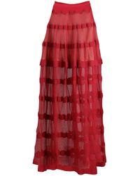 Alaïa Maxi Skirts - Red