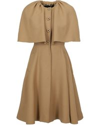 Dolce & Gabbana Single-breasted Coats - Natural