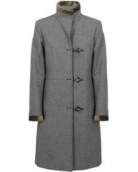 Fay Duffle Coat - Grey
