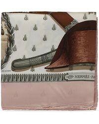 Hermès Silk Scarves - Brown