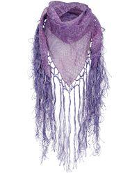 Roberto Cavalli Silk Scarves - Purple