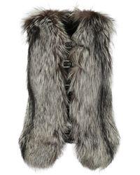 Philipp Plein Fur Coats - Grey